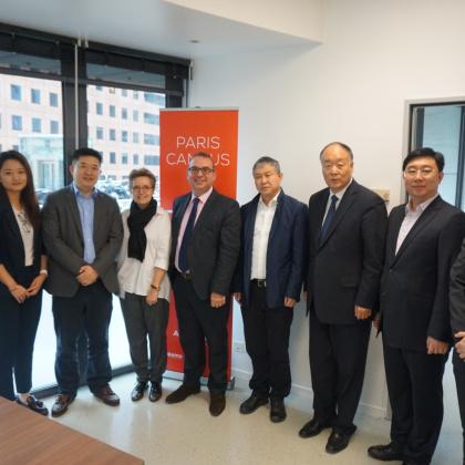 中国教育部财务司、中国驻法大使馆教育处代表团访问SKEMA商学院巴黎校区