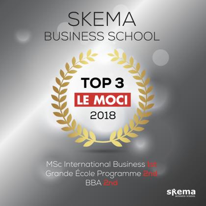 SKEMA商学院多个项目雄踞《Le Moci》全法前三