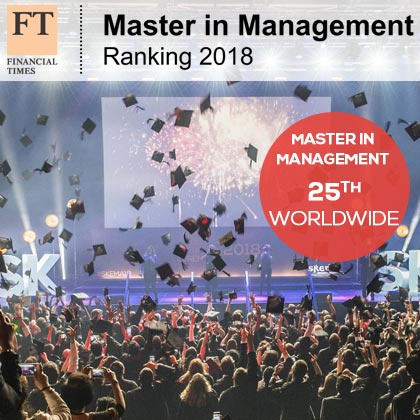 《金融时报》发布2018年全球管理学硕士排名,国际化商学院SKEMA入选全球25强