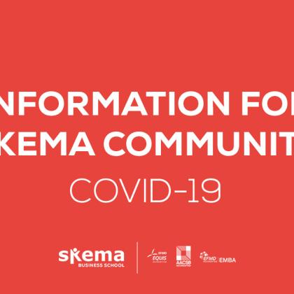 作为一所国际化的商学院,SKEMA时刻关注着疫情趋势,SKEMA商学院全球总校长Alice GUILHON为此特向全体师生发表公开信。