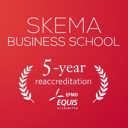 2020年4月,经全球商学院权威认证机构——EQUIS认证授予委员会集体投票决定,授予SKEMA商学院最高级别认证—5年期的再认证资格。