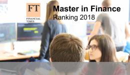 《金融时报》发布最新全球金融硕士排行榜,SKEMA商学院高居全球第4!